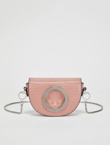 Leather crescent mini-bag