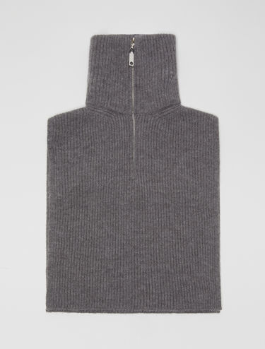 Ribbed knit cagoule