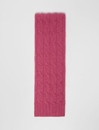 Grande écharpe en laine torsadée