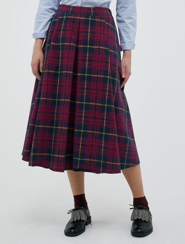 Tartan fleece skirt