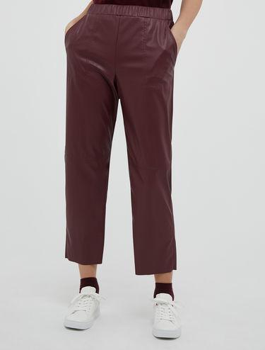 Pantalon en jersey effet cuir