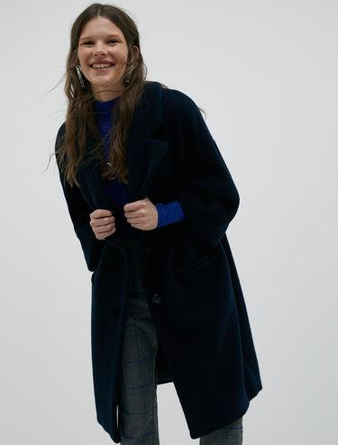 Plush jersey coat