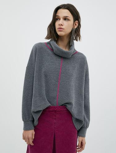 Wool jersey sweatshirt