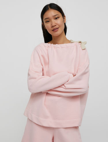Sweat-shirt avec encolure à cordon de serrage