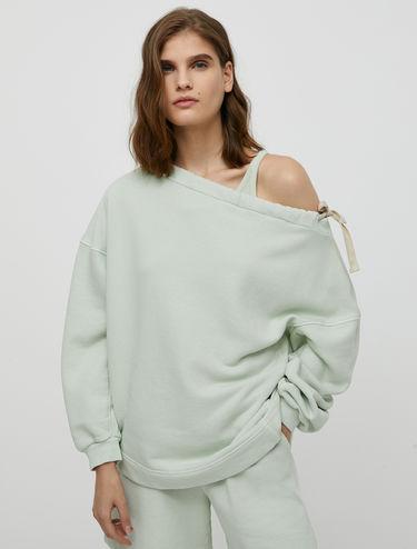 Sweatshirt with drawstring neck
