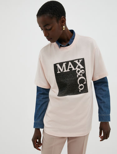 Logo T-shirt with beads