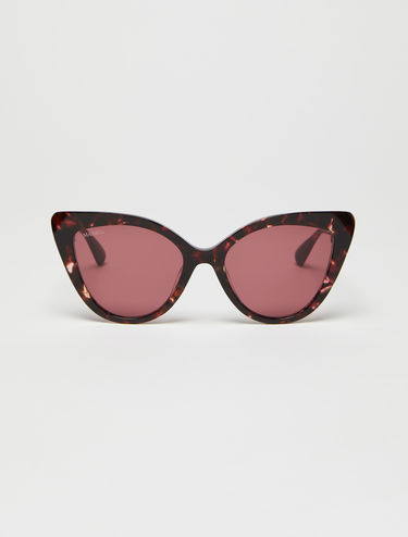 Wide cat-eye glasses